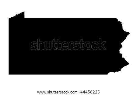 Commonwealth of Pennsylvania - white background - stock photo