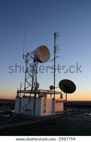 commuications equipment - stock photo