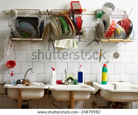 Communal kitchen - stock photo