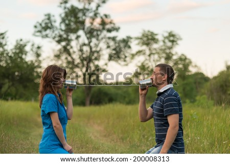 communication - stock photo