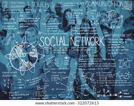 Communication Community Computing Connection Concept - stock photo