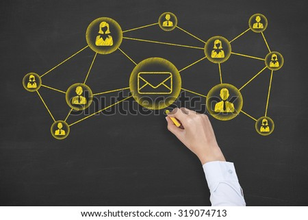 Communication Concept Mail - stock photo