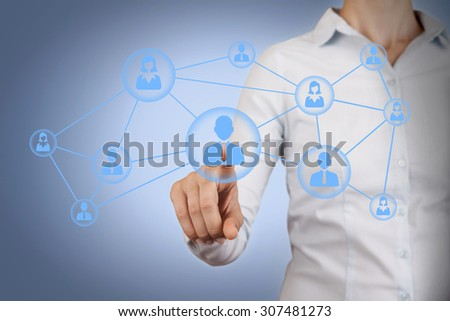 Communication Connection Concept on Screen  - stock photo