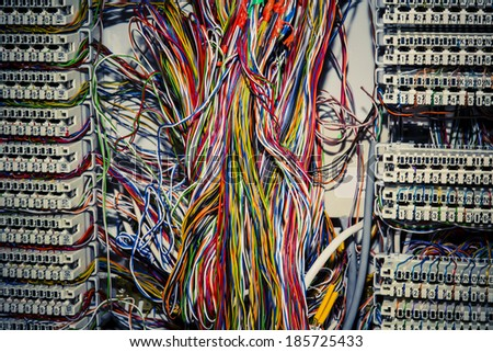 Communication control circuit panel used for phones - stock photo