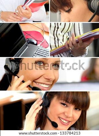 communication office - stock photo