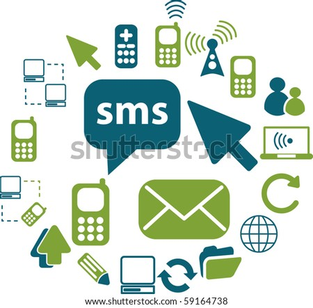 communication signs - stock photo