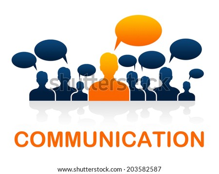 Communication Team Indicating Communicate Network And Networking - stock photo