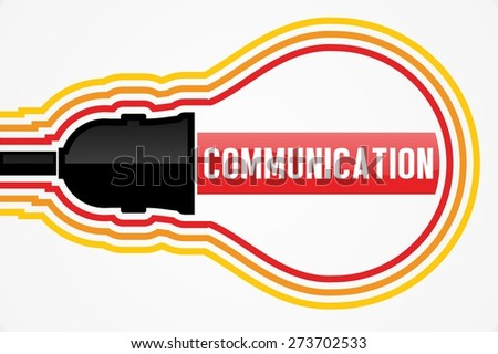 COMMUNICATION word in lightbulb concept - stock photo