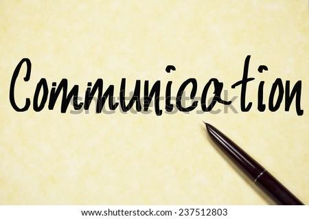 communication word write on paper  - stock photo