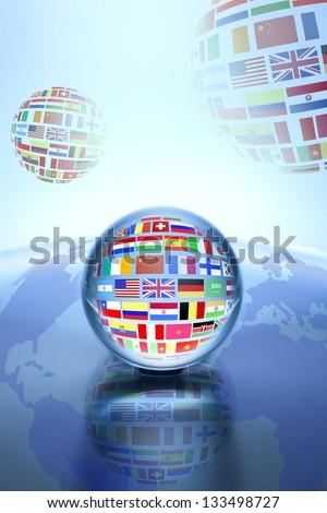 Communication World, Global Commerce - stock photo