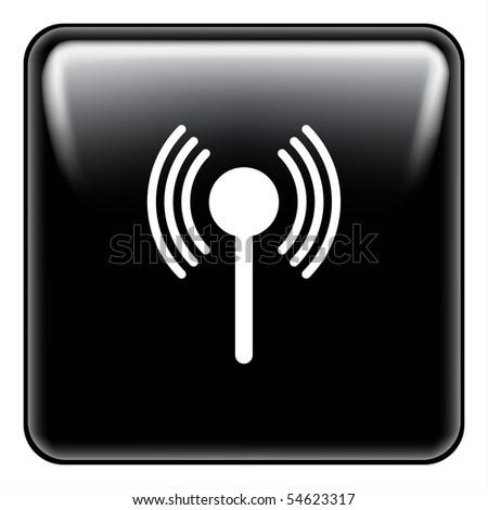 Communications button - stock photo