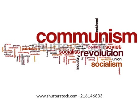 Communism concept word cloud background - stock photo