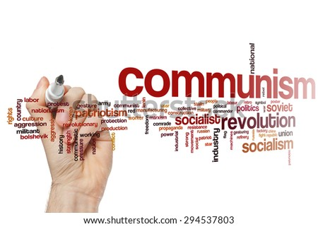 Communism concept word cloud background - stock photo