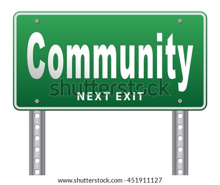 Community a local human group of people together united in a social cooperation connections and network. 3D illustration, isolated, on white - stock photo