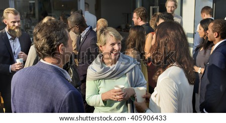 Community Collaboration Connection Casual Concept - stock photo
