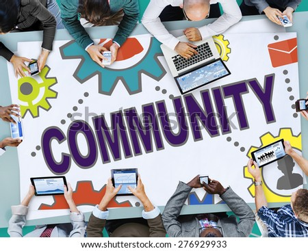 Community Connection Society Social Media Social Network Concept - stock photo
