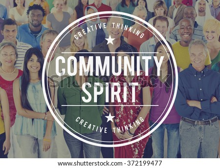 Community Spirit Fellowship Group People Concept - stock photo