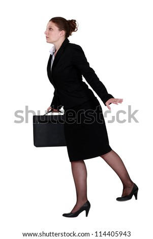 Commuter in a rush - stock photo