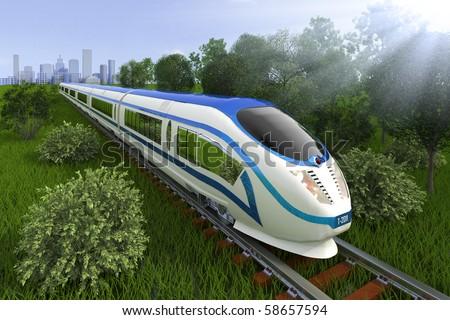 Commuter train - stock photo