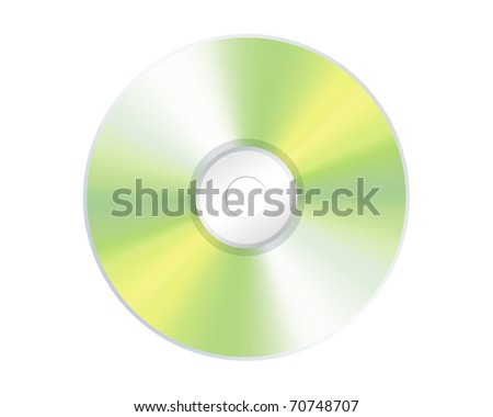compact disk isolated on White - stock photo