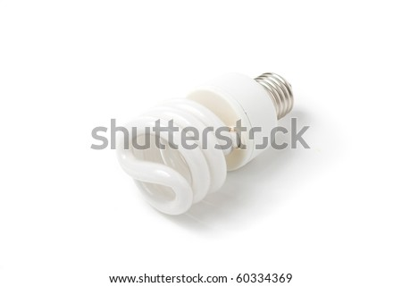 Compact Florescent Lightbulb - stock photo