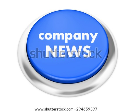 Company News button on isolate white background - stock photo
