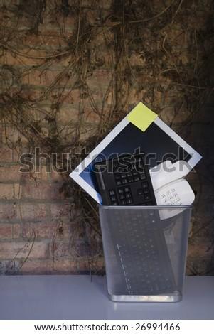 company office in the economic recession - stock photo
