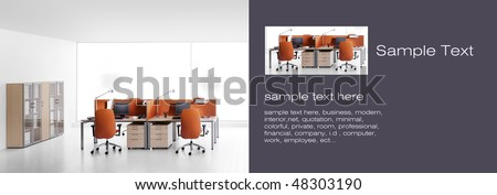 company,orange interiors - stock photo