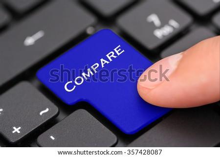 compare button - stock photo