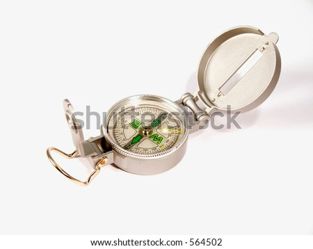 Compas, symbol of navigation or finding your way in life and business - stock photo