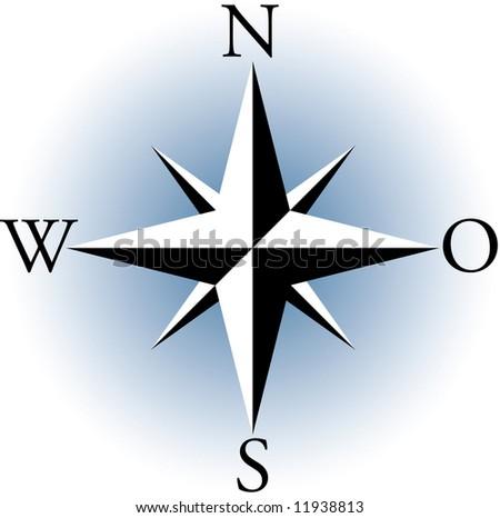Compass. A raster illustration. - stock photo