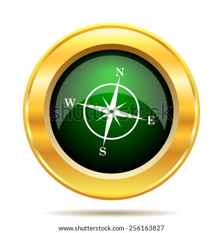Compass icon. Internet button on white background.  - stock photo