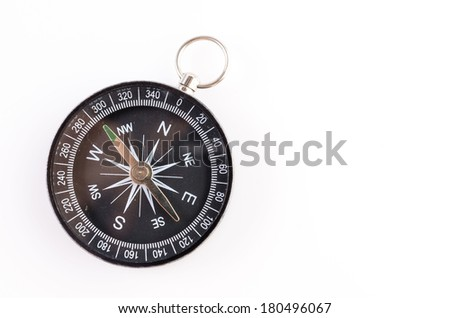 Compass isolated on white background - stock photo