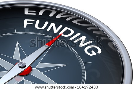 compass with a funding icon - stock photo