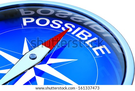 compass with a possible icon - stock photo