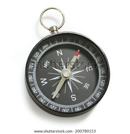 Compass with clipping path - stock photo