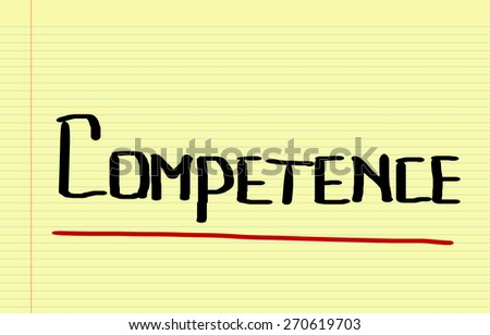Competence Concept - stock photo