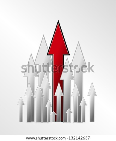 Competition and growth as an illustration, the hands on a white background - stock photo
