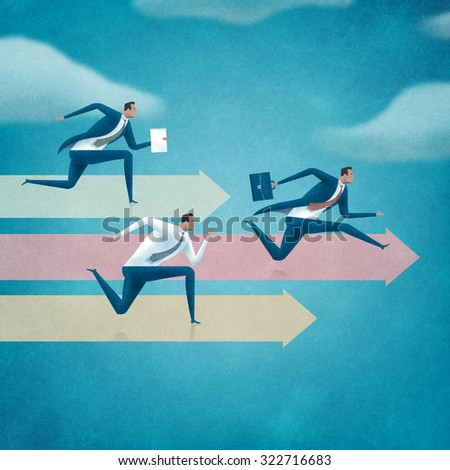Competition. Concept business illustration. - stock photo