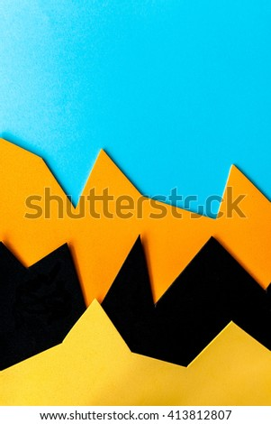 Complementary color background web design imitating the straight lines and curves of the material design and shadows - stock photo