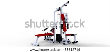 Complete Home Gym - stock photo