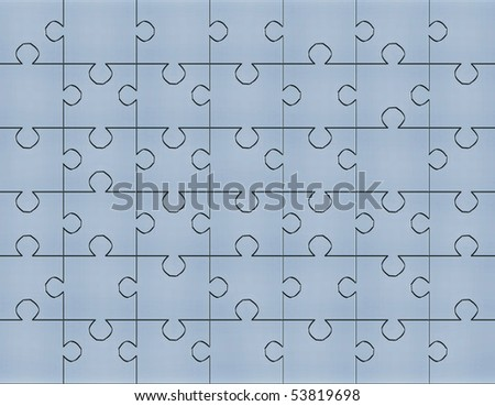 completed puzzles - stock photo