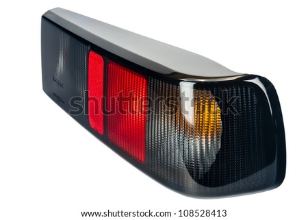 completely made of plastic rear lamp illumination - stock photo