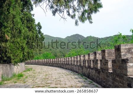 Complex of Ming Dynasty Tombs in Beijing, China - A UNESCO World Heritage Site - stock photo