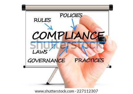 compliance company rules and procedures concept - stock photo