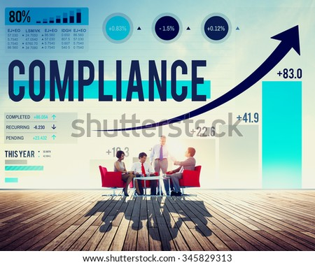 Compliance Rules Law Follow Regulation Concept - stock photo