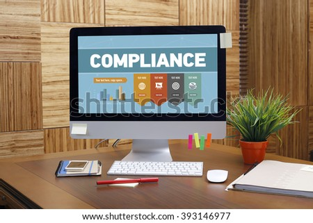 Compliance word on screen - stock photo