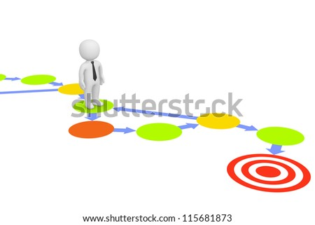 Complicated way to target - stock photo