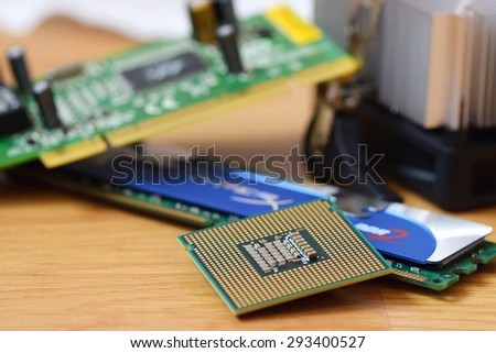 Components for computer - stock photo
