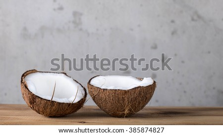 Composition from nuts, nut shells. - stock photo